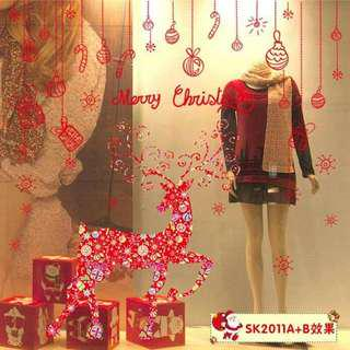 Christmas Wall  Glass Window Stickers Double Sheets