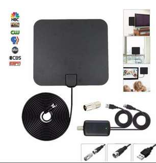 Indoor Digital TV Antenna Amplified 50 Mile Range 4K HD VHF UHF Freeview For Life Local Channels Broadcast For Home Smart Television