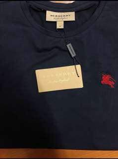Burberry T shirt Tee 名牌淨色T 白色黑色深藍色