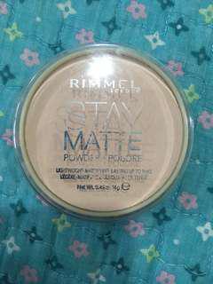Rimmel Stay Matte Powder #mcsbeauty