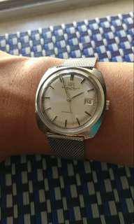 Iwc 中古錶, 全原裝無番寫, 原裝魚的霸的, 原裝鋼帶, 行走良好, 平售( rolex omega gs seiko tudor )
