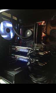 i7 GTX970 SLI Gaming PC w Gaming monitor