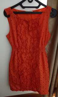 Nyla Orange Dress