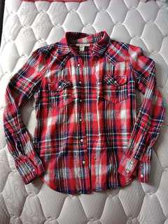 Red Flannel Outerwear Shirt