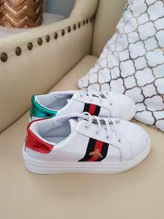 Gucci inspired white sneakers 18.3cm