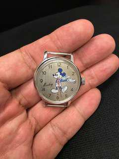美品古董Seiko 手上鍊米奇老鼠手錶