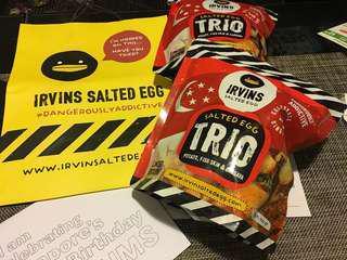 新加坡代購Irvins salted egg trio ( 一包有齊木薯/魚皮/薯仔 薯片)