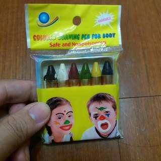 🚚 人體彩繪6色蠟筆