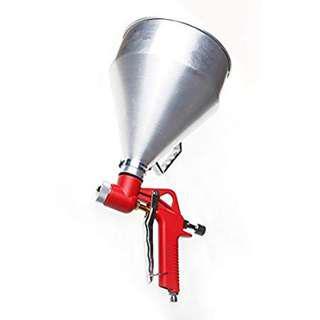 Hopper Feed Exterior 1-1/2 Gallon Texture Spray Gun Aluminum Cup