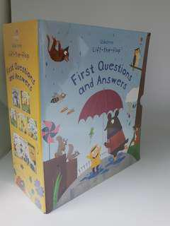 USBORNE LIFT-THE-FLAP FIRST QUESTIONS AND ANSWERS BOX SET OF 5 BOOKS (free courier)