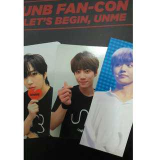 [TRADE!!] UNB FAN CON DVD official photocard/bookmark