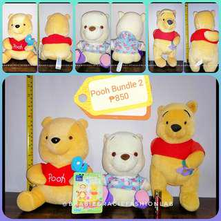 Pooh Stuffed Toy from Japan Bundle #2