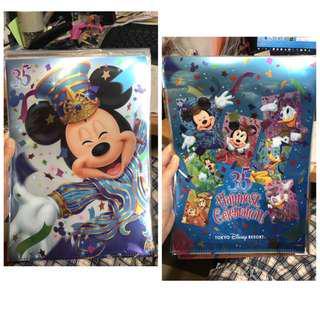 東京迪士尼 Tokyo Disneyland 35週年 file 2個 mickey Minnie