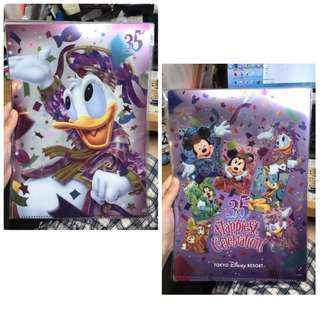 東京迪士尼 Tokyo Disneyland 35週年 file 2個 Donald daisy