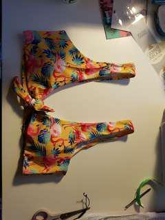 Yellow Flamingo Bikini Set