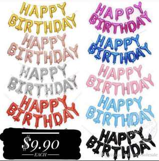 Happy Birthday Foil Alphabets/Letters