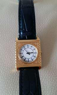 Franklin Mint 倫敦大笨鈡石英纪念手錶