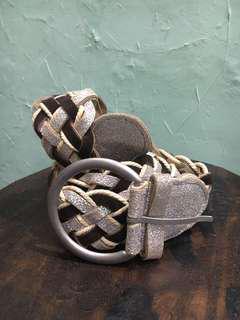 Belt chocolate silver / ikat pinggang