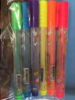 六色螢光筆miffy buy from Korea 每支$5