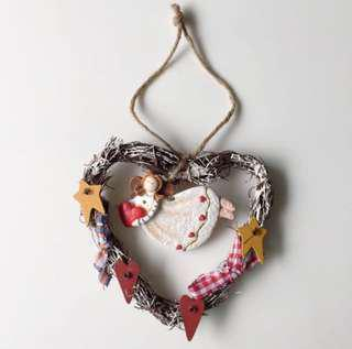New! Heart Shaped Angel plaque