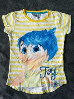 Disney Inside Out Joy Striped T-shirt (5-6y) #mcsfashion #paywithboost