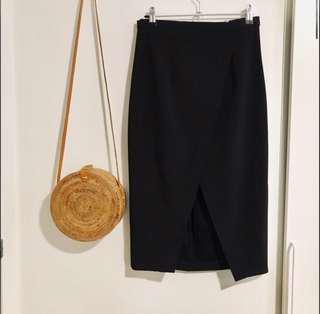 Black Wrap Skirt