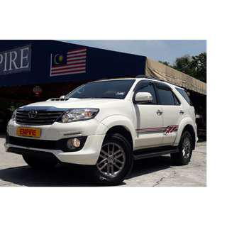 TOYOTA FORTUNER 2.5 ( A ) DIESEL TRD SPORTIVO VGT TURBO INTERCOOLER !! 7 SEATER MPV !! NEW FACELIFT !! TRD SPORTIVO FULL BODYKIT !! PREMIUM HIGH SPECS !! ( WX 5828 X ) 1 CAREFUL OWNER !!