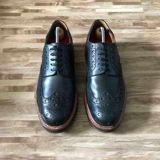 UK7 Grenson Archie Black Leather Brogue