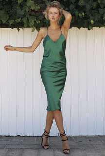 maurie and eve sunrise dress emerald green size 8