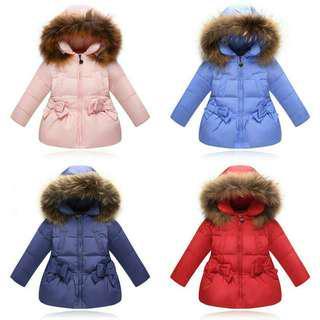 [NEW] Girls Fur Trim Down Jackets!