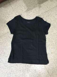 Basic black top blouse atasan