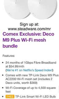 Comex 2018 Exclusive: Deco M9 Plus Wi-Fi mesh bundle. MyRepublic. Official seller.