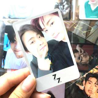wts got7 7 for 7 present edition mark x youngjae unit photocard