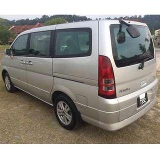 Nissan Serena 2.0 Auto Satu Onwer DVD Player 7 Seater !!