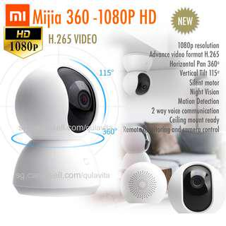 🚚 Xiaomi Mijia 360 1080p PTZ IP CCTV wireless smart camera (New Generation H.265 format)