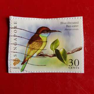Singapore Stamp/Blue-Throated Bee-Eater