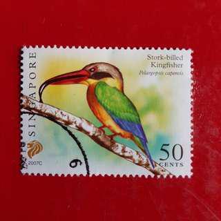 Singapore Stamp/Stork-Billed Kingfisher