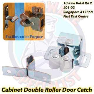 Cabinet Double Roller Door Catch (2 Pieces)