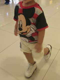 ootd- shirt and shorts for 2 yrs old