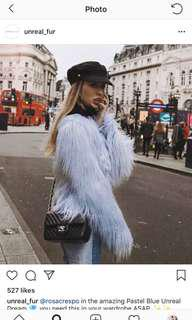 Unreal Fur Blue Fur Coat