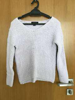 Lilac fleece sweater