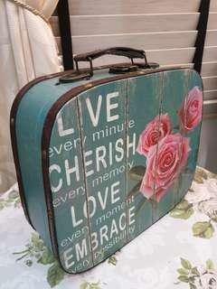 Vintage Romantic English Country Decorative Luggage Box