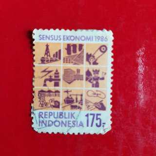 Indonesia Stamp year 1986-Sensus Ekonomi