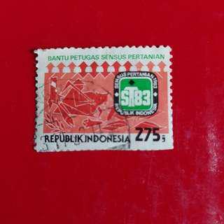 Indonesia Stamp year 1983- Rp 275 Sensus Pertanian
