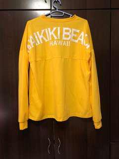 [3 FOR $10] waikiki beach yellow sweater