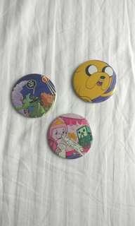 Adventure Time button pins