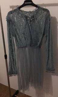 Pastel blue lace dress