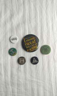 Harry Potter button pins