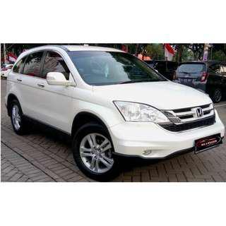 Honda CRV 2.4 AT 2010 White DP 12,9 Jt No Pol Ganjil