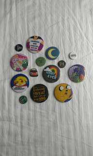 Button pins bundle